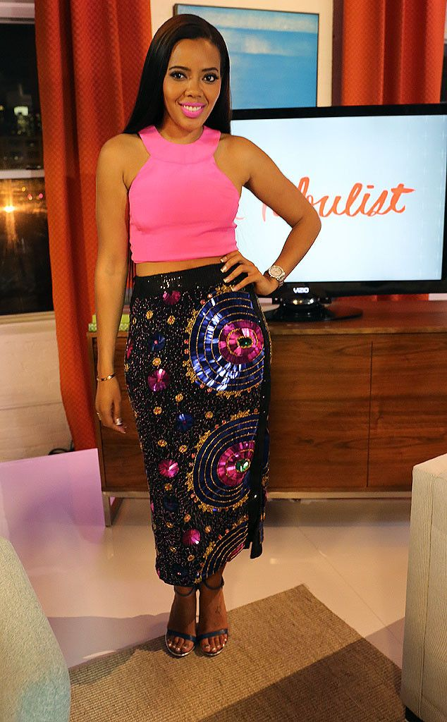 """Rev Run's daughter shows us how to perfectly rock a crop top! Angela's top is from Olcay Gulsen, her skirt is from Virgos Lounge and the shoes are Mia Limited Edition. This outfit has us all screaming, """"Hallelujah!"""""""