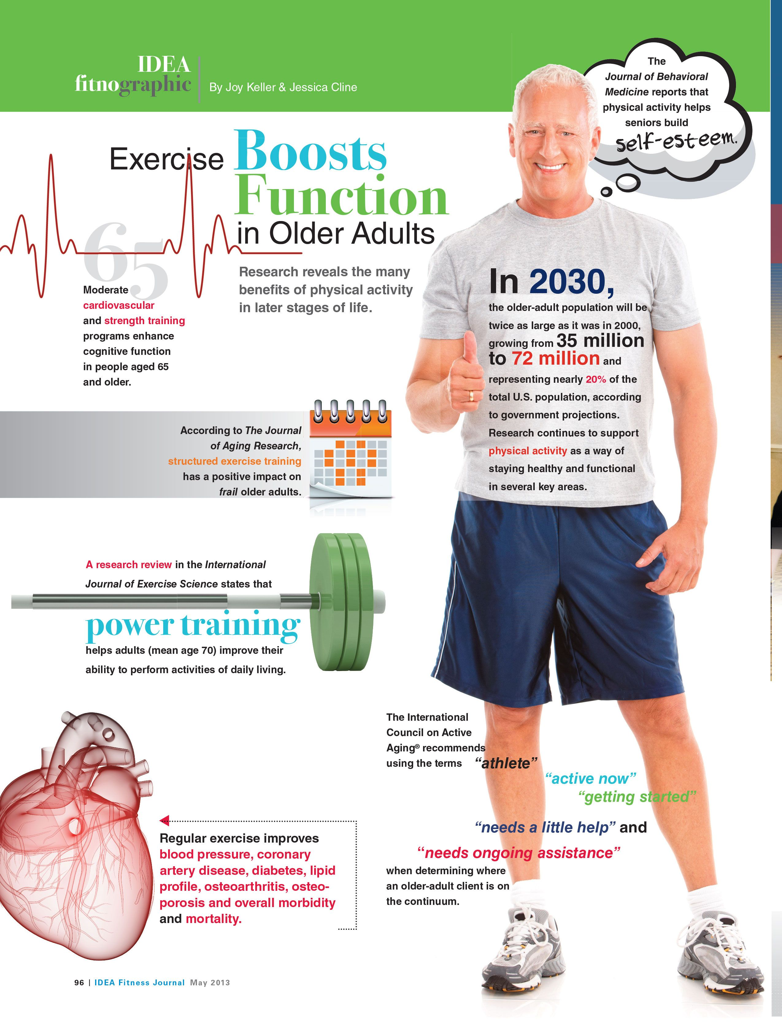 excercise boosts function in older adults  looking at cardiovascular  power and strength