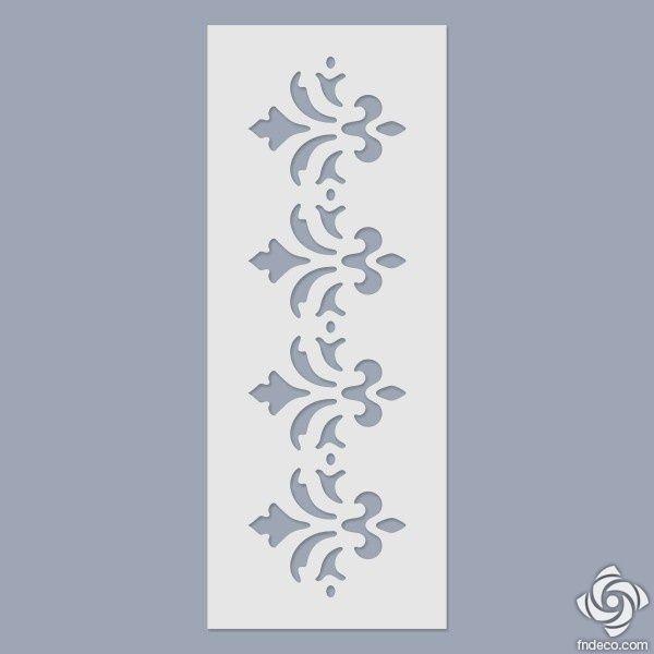 195 x 270 mm Floral Elements Bordure Stencil
