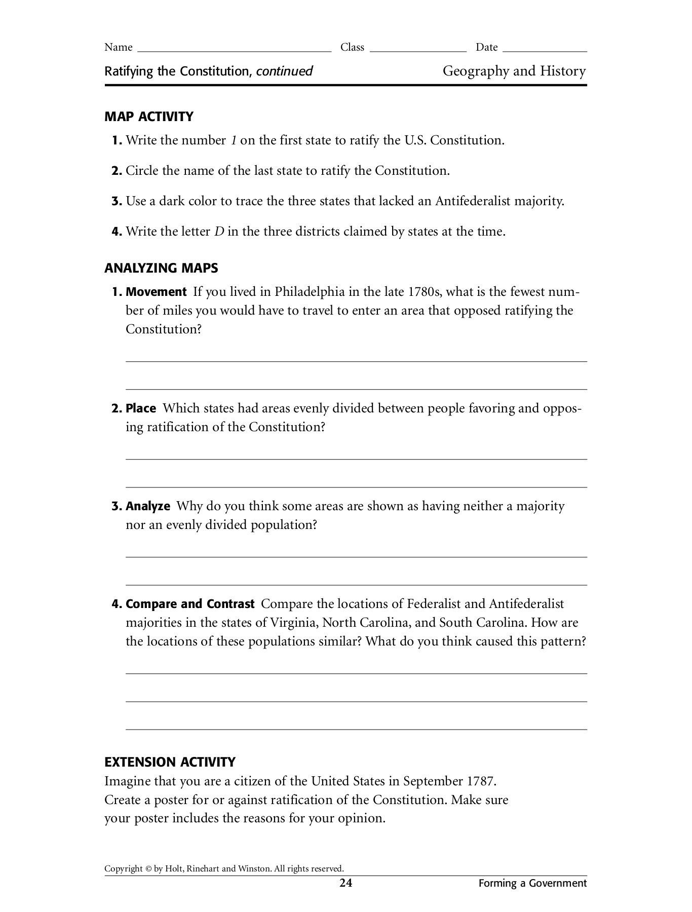 Legalgeneral Constitution Worksheet Answers