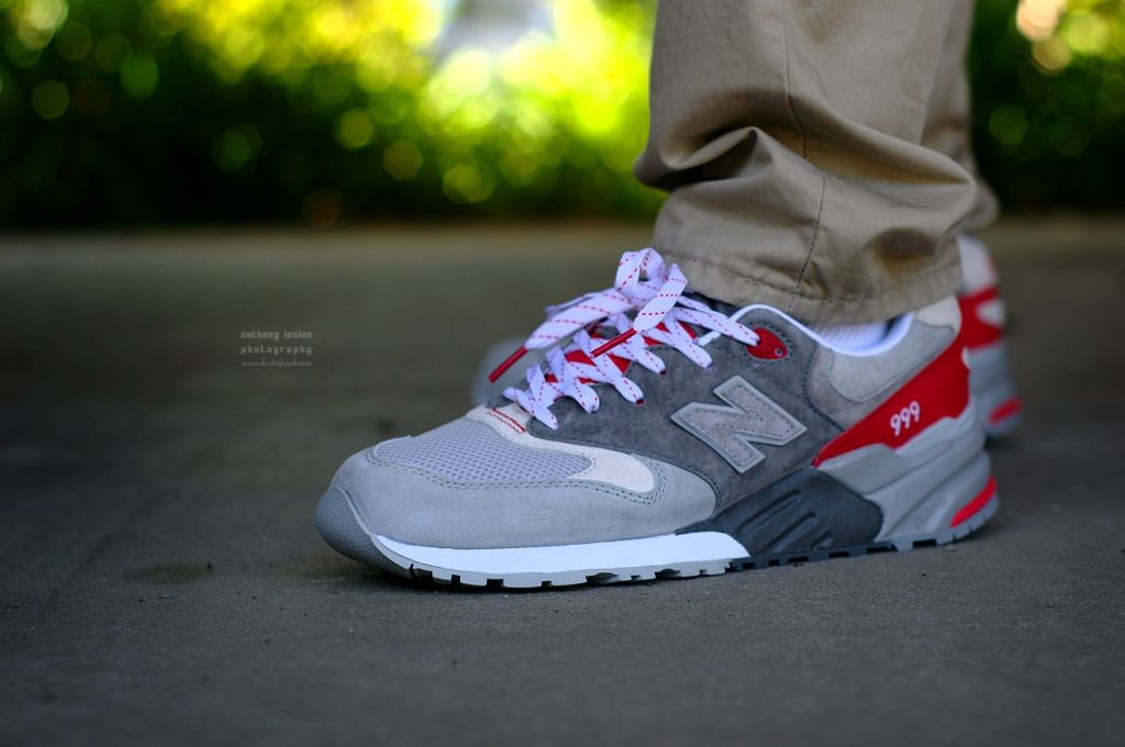 newest 7e7b9 c715b New Balance 999 Elite Edition - Grey/Red | On Feet | New ...