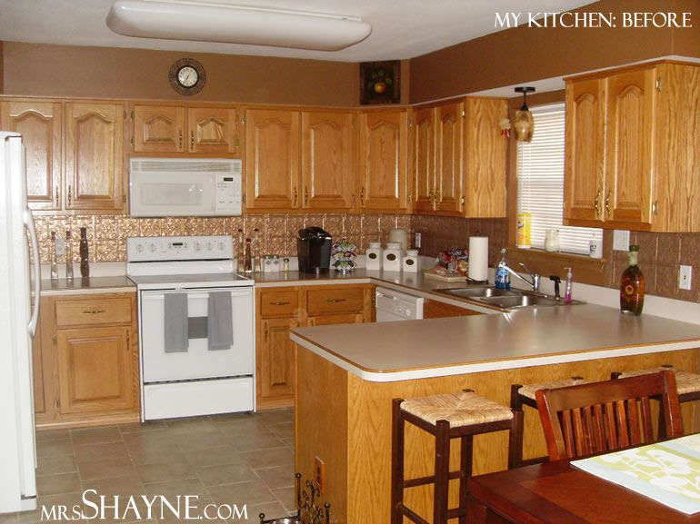 Kitchen With Grey Walls And Brown Cabinets Design Advice On 1990 S Oak Kitchen Kitchen Antique White Kitchen Glazed Kitchen Cabinets Redo Kitchen Cabinets