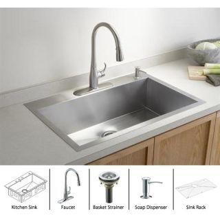 Kohler K 3821 4 Drop In Kitchen Sink Single Sink Kitchen Single Bowl Kitchen Sink