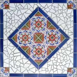 Custom Spanish Andalucia Ceramic Tile Table