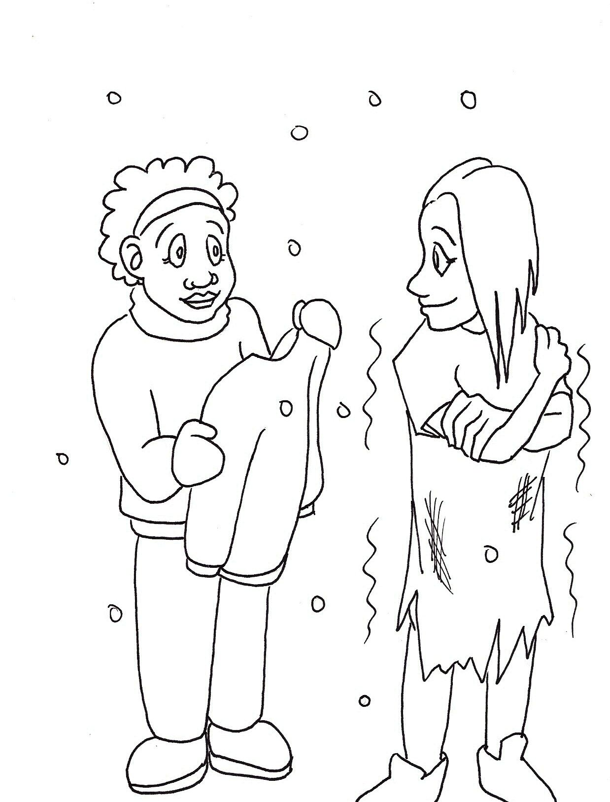 Colouring Pages Coloring Pages Bahai Children Generosity