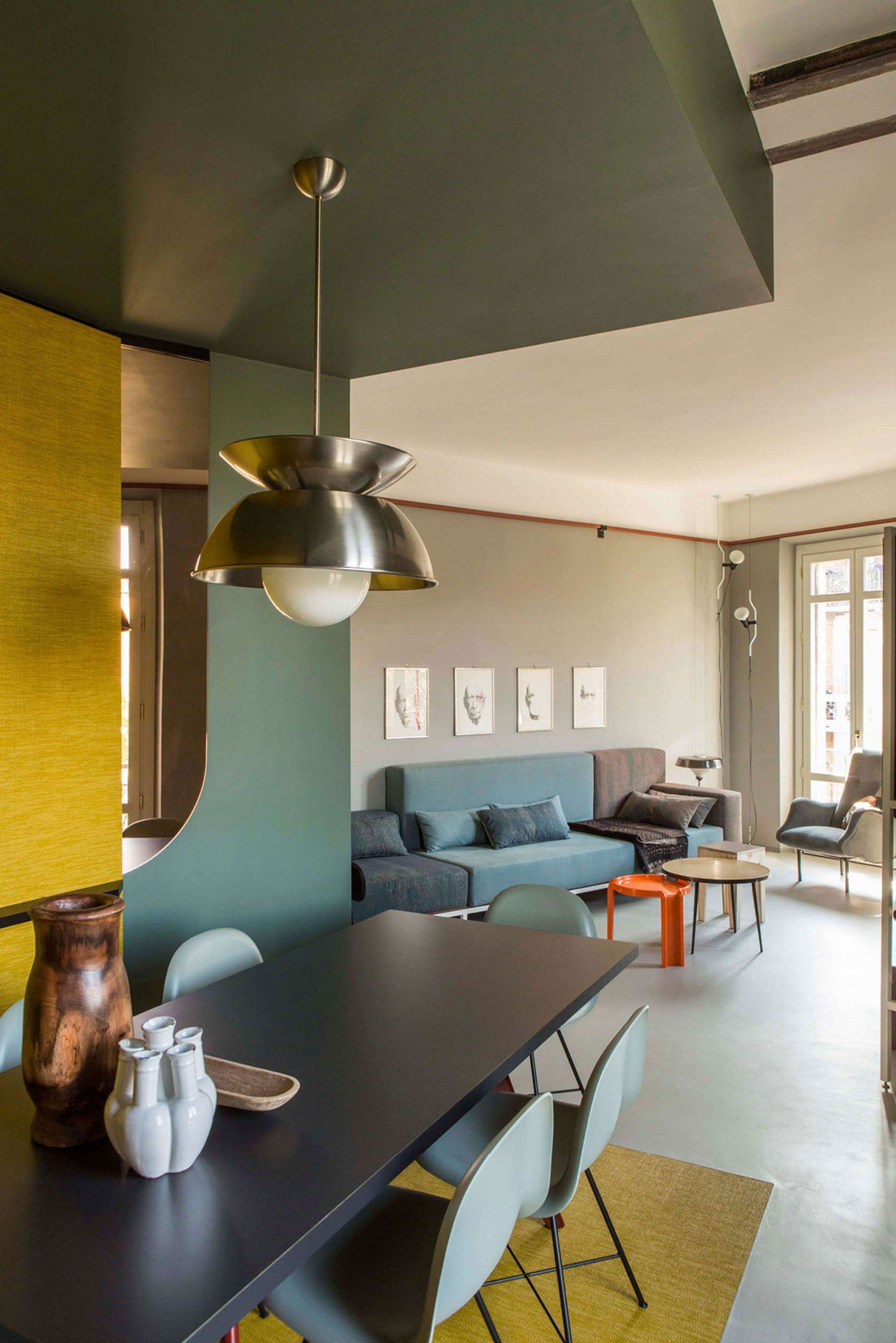 Promenade apartment in turin by sceg architects yellowtrace midcentury modern color interior home also inspiration daria zinovatnaya design pinterest rh