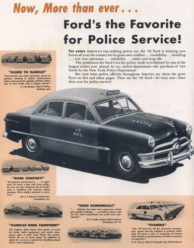 In A  A History Of Ford Police Vehicles  Ford Police