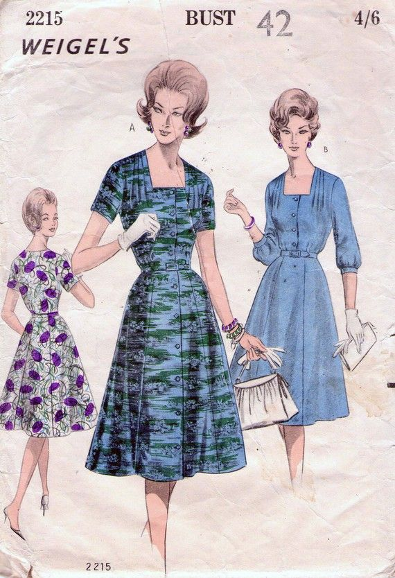 1960s Vintage Plus Size Sewing Pattern by ...