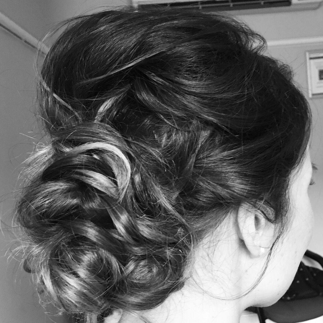 Www.stephaniedorelli.com textured messy bun, hair by me ...