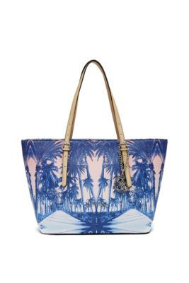d04a0113f9 Delaney Palm Tree Small Classic Tote | GUESS.com | GUESS ...