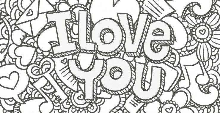 Coloriage love my blog - Dessin peace and love ...