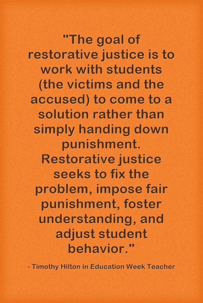 Response How To Practice Restorative Justice In Schools Opinion Restorative Justice Restorative Practices School School Social Work