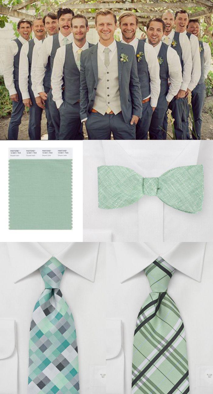 gray jade menswear accessories wedding color inspiration. Black Bedroom Furniture Sets. Home Design Ideas