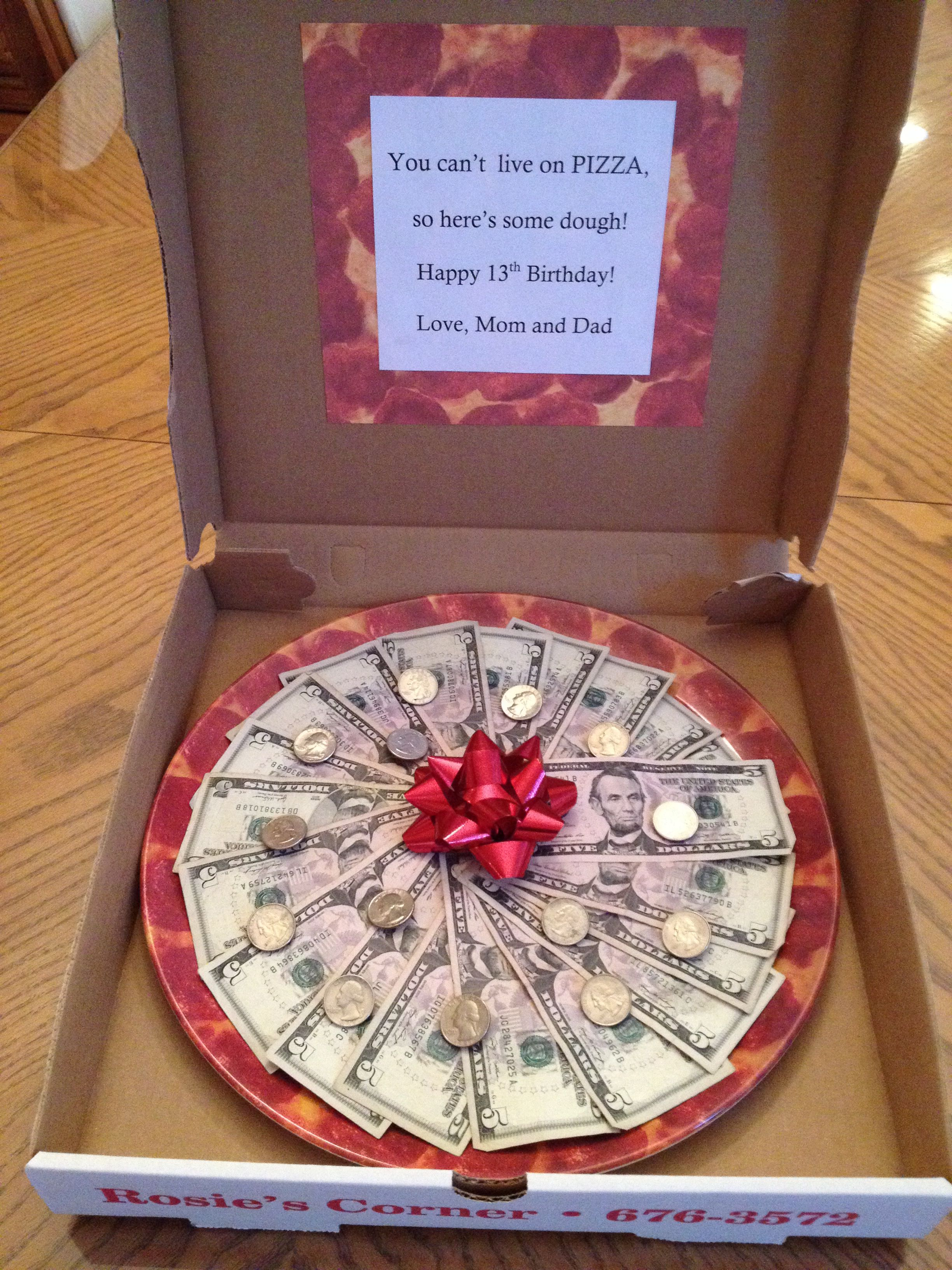 Pizza made of money. | Gifts | Pinterest | Pizzas, Gift and Money cake