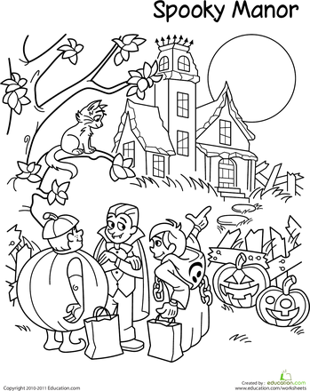 Trick-Or-Treat Coloring Page | Halloween coloring pages ...