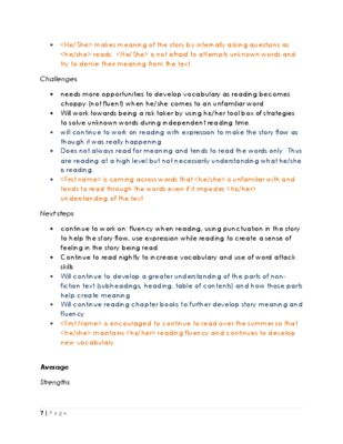 Report Card Comments from Outta the Lines Teaching on - sample valuation report