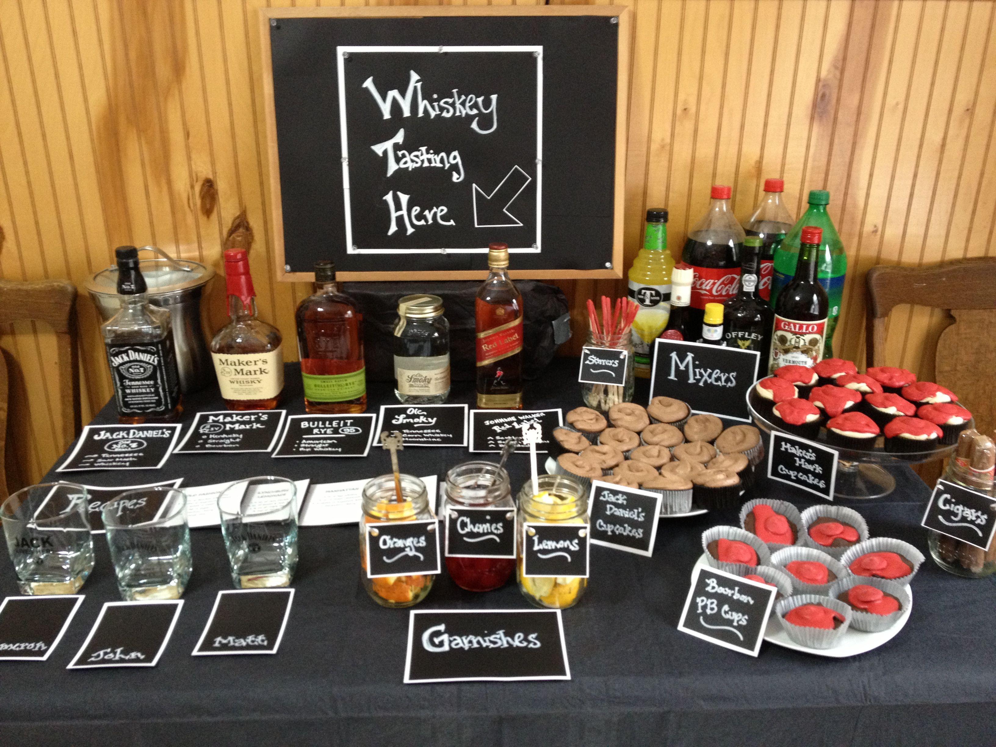 Whiskey Tasting - no cupcakes or mixers. no way.