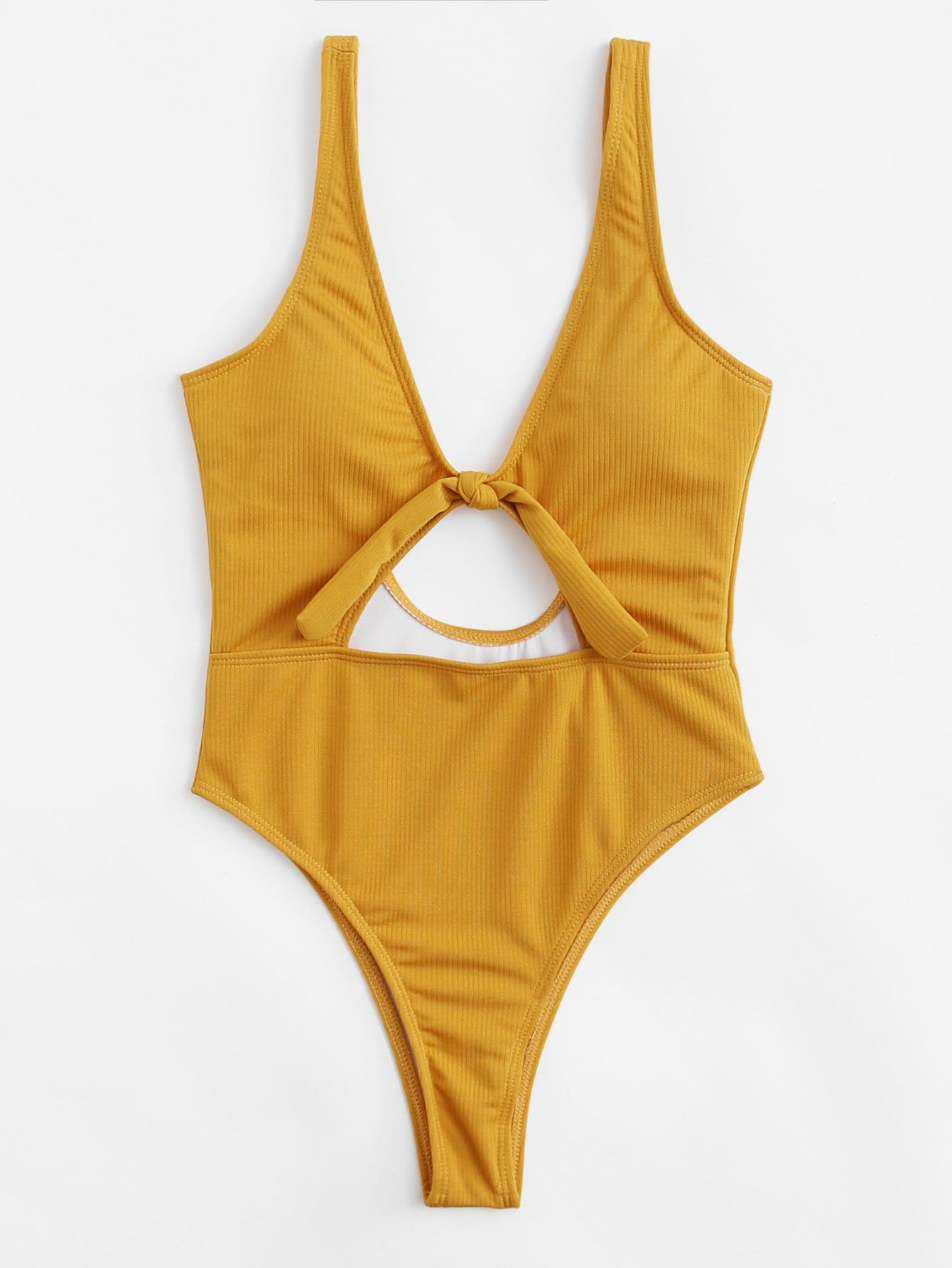 e6056d690a4 Shop Knot Cut Out Swimsuit online. SheIn offers Knot Cut Out Swimsuit &  more to fit your fashionable needs.