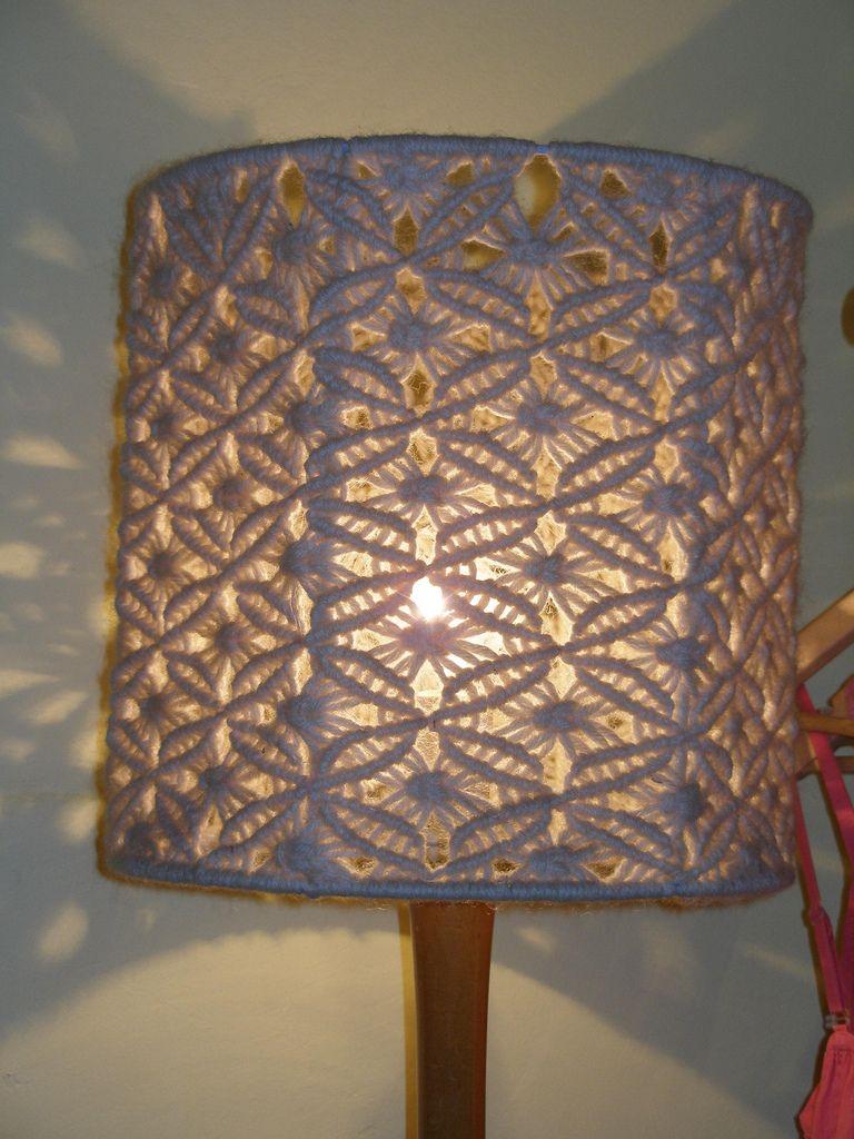 Knitted lampshade   Macrame knots, Macrame wall hangings ...