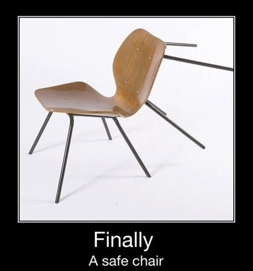 Pin By Kylie Parrish On For Laughs Chair Safe Chair Inventions