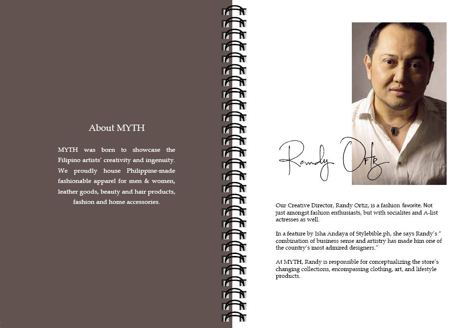 Holiday 2011 Look Book. Randy Ortiz - MYTH's Creative Director.