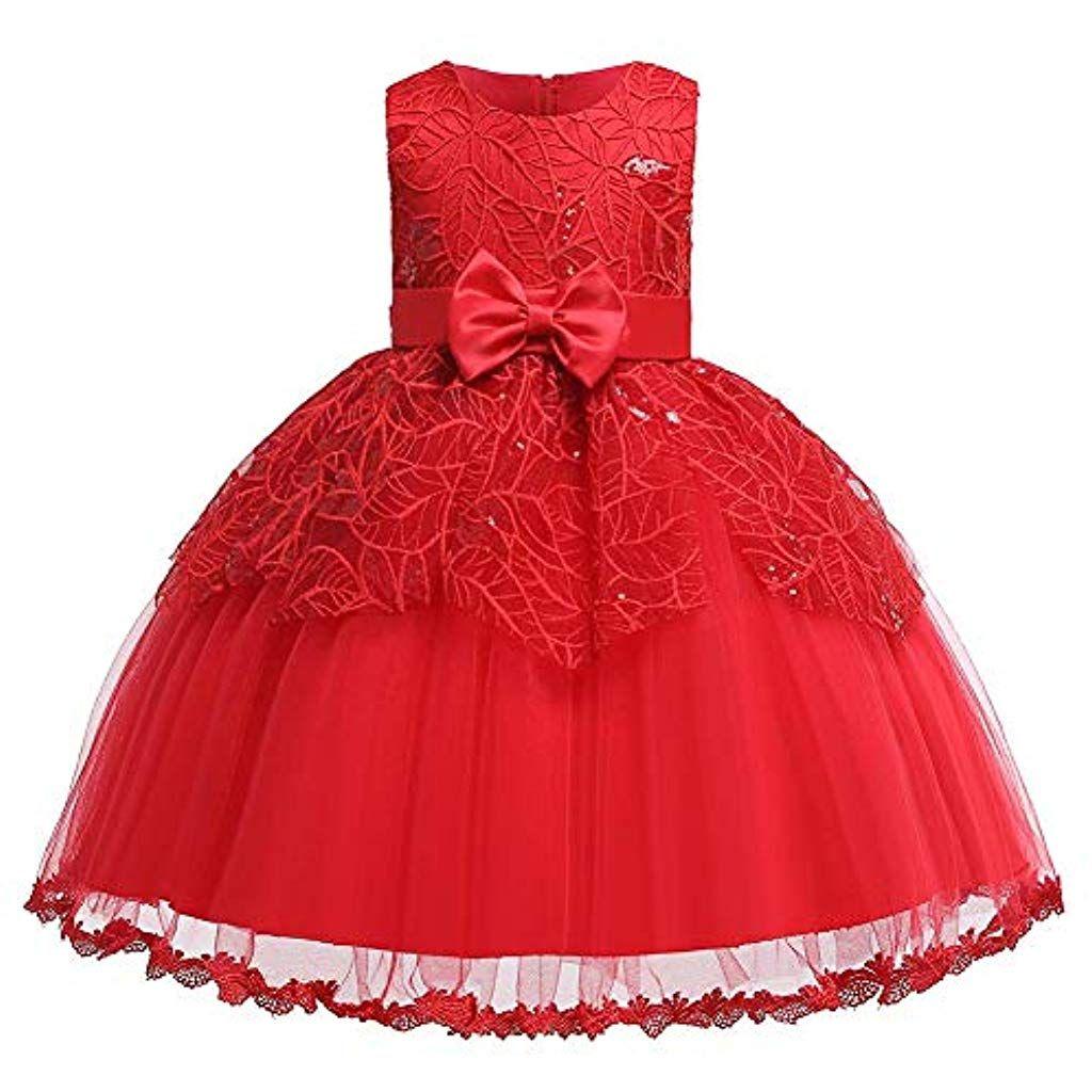 Kinder Mädchen Pailletten Tutu Kleid Tüllkleid Prinzessin Partykleid Festkleid