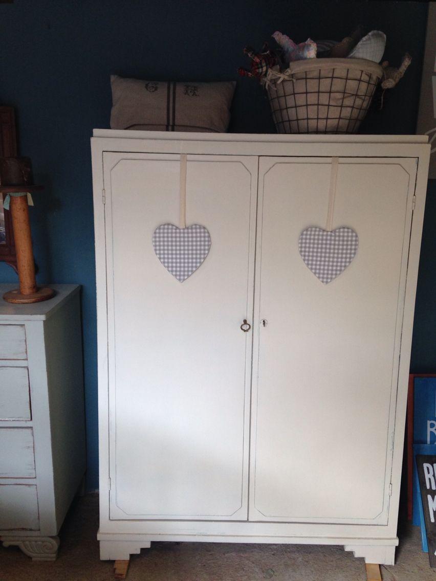 Armario En Blanco Antiguo Nuestros Muebles Restaurados  # Muebles Restaurados En Blanco