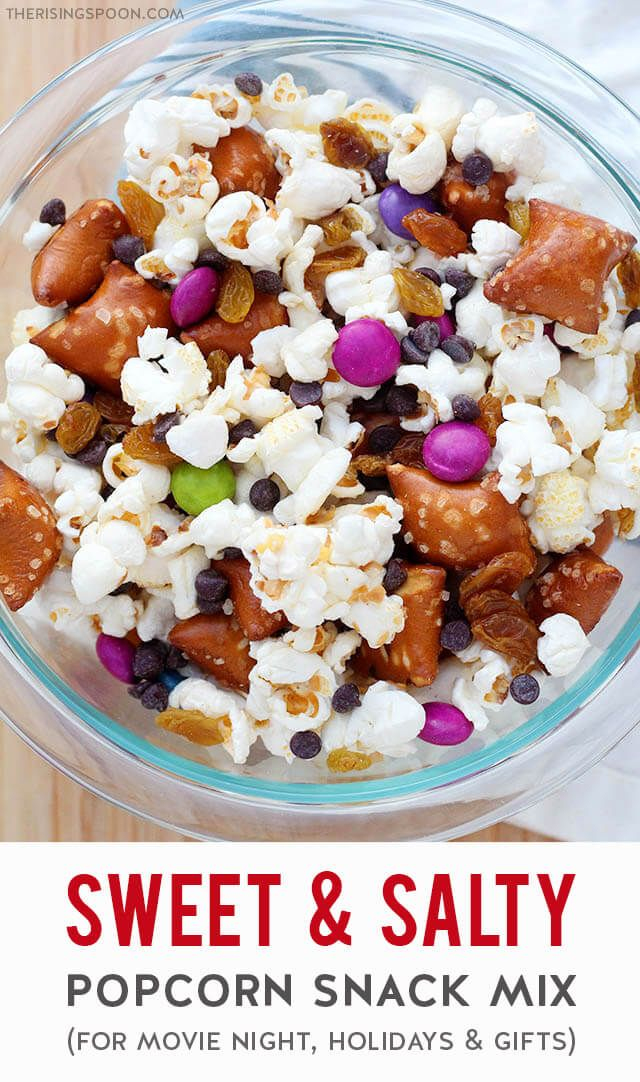 Sweet Salty Popcorn Snack Mix Recipe In 2020 Snack Mix Sweet And Salty Snacks