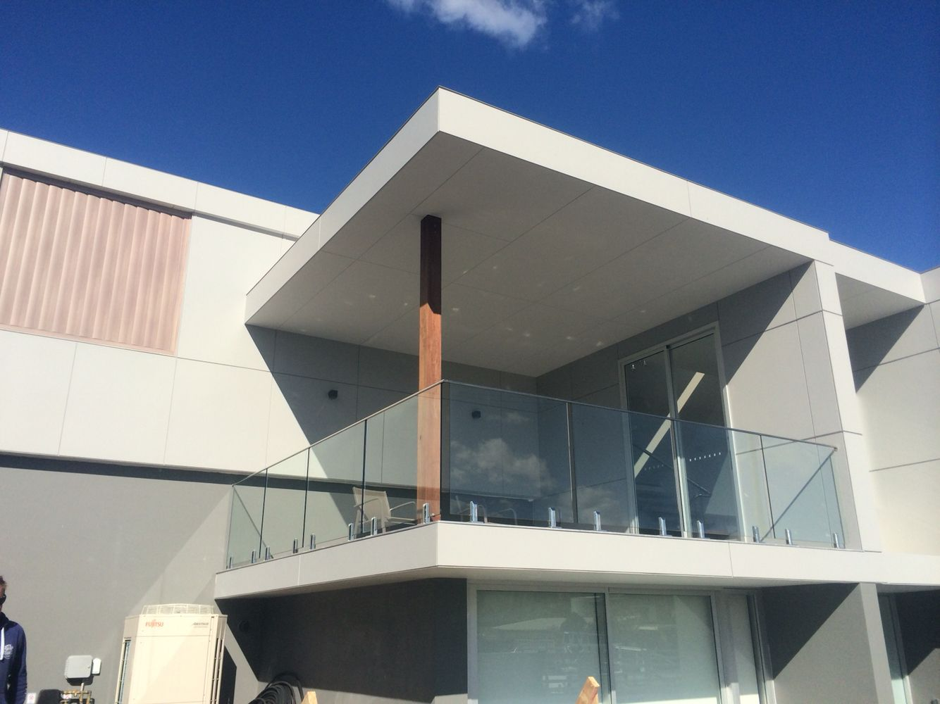 Glass Balustrade With Stainless Steel Spigots With Top Rail Frameless Glass Balustrade Glass Balustrade Architecture