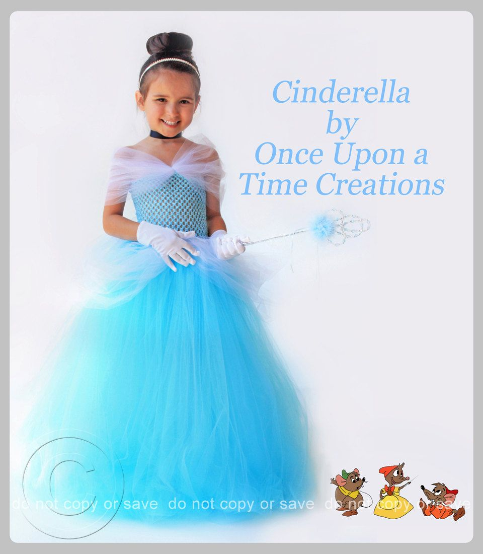Cinderella Inspired Princess Tutu Dress - Birthday Outfit, Photo Prop, Halloween Costume - 12M 2T 3T 4T 5T - Disney Cinderella Inspired. $49.99, via Etsy.