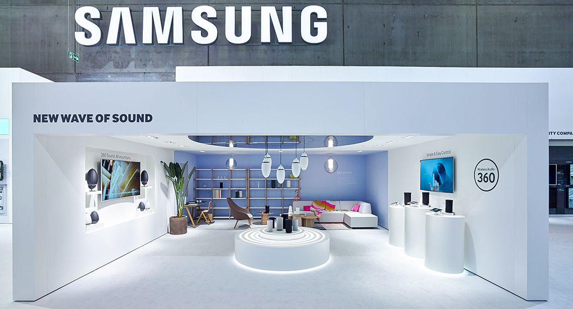 Samsung Exhibition Stand Design : Samsung electronics ifa berlin event exhibition