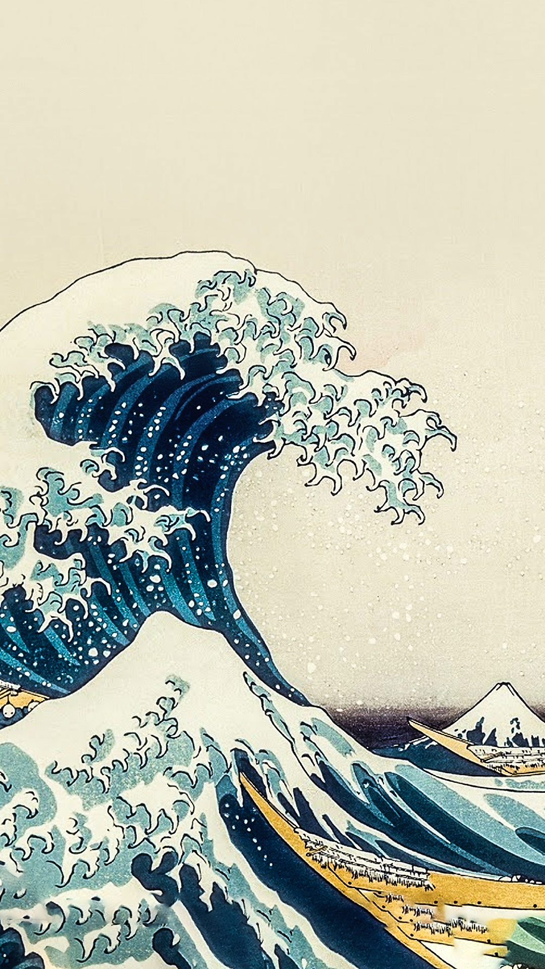 The Great Wave Off Kanagawa By Hokusai Custom Edit Link Https