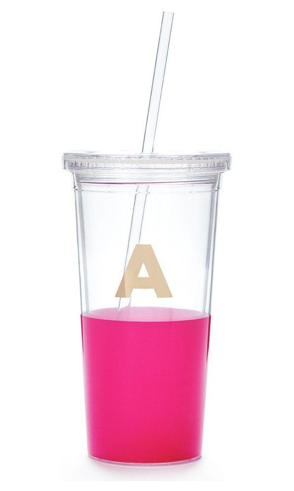 Kate spade new york Dipped Tumbler with Straw, Pink Best Price