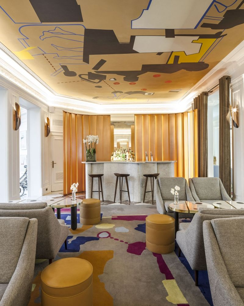 Gallery photo luxury hotel hotel vernet paris travel for Charme design boutique hotel favignana