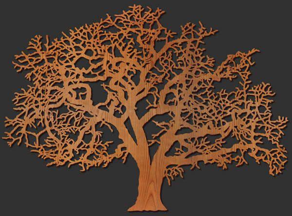 Oak Tree Wood Wall Art Lightwave Laser Metal Tree Wall Art Metal Tree Tree Wall Art Diy