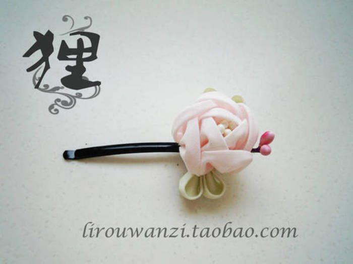 和风和服发饰 小玫瑰花苞发夹
