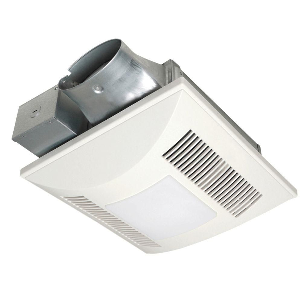 Panasonic Quiet Low Profile 100 Cfm Ceiling Bathroom Exhaust Fan With Fluorescent Light Fv 10vsl3e The Home Depot Fan Light Exhaust Fan Wall Mounted Exhaust Fan