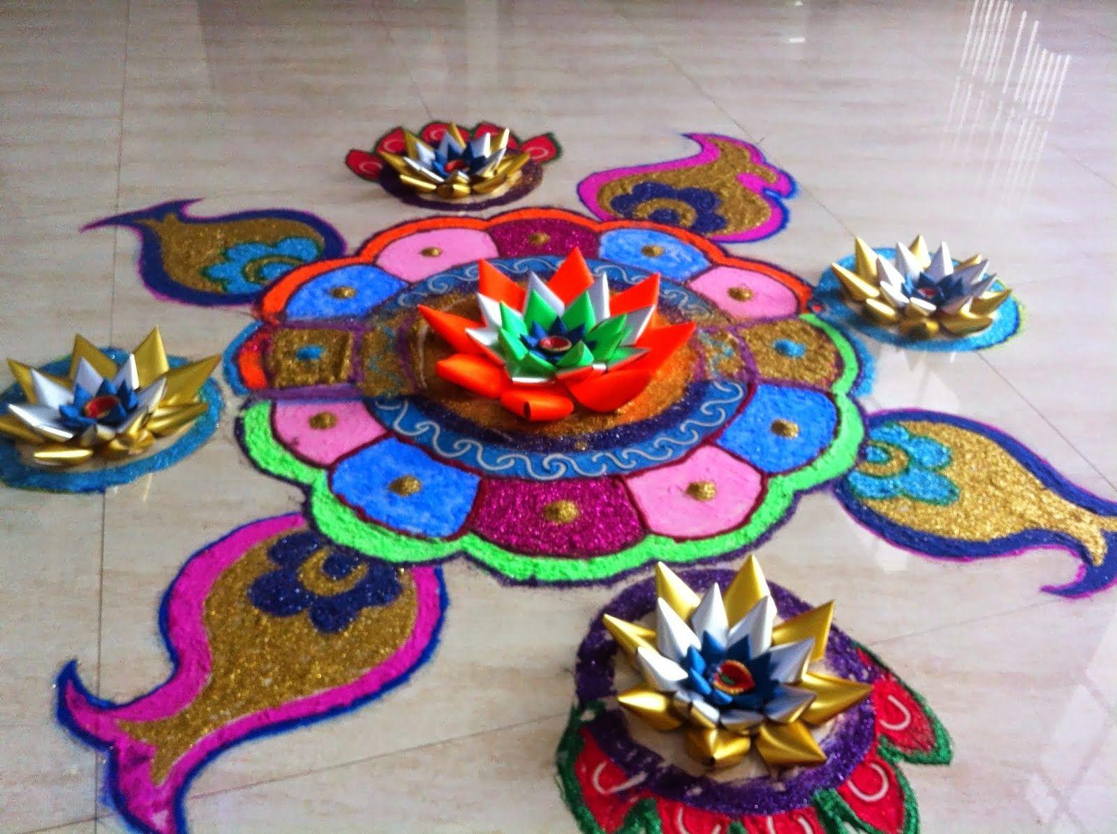 Art Craft Ideas And Bulletin Boards For Elementary Schools Rangoli
