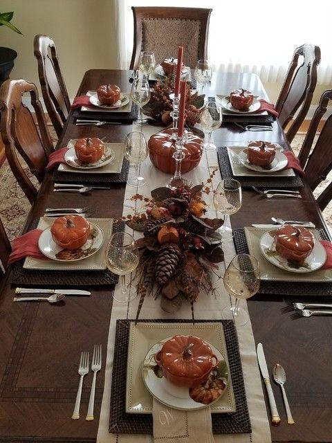 Botanical Pumpkin Dinner Plates #thanksgivingtablesettings