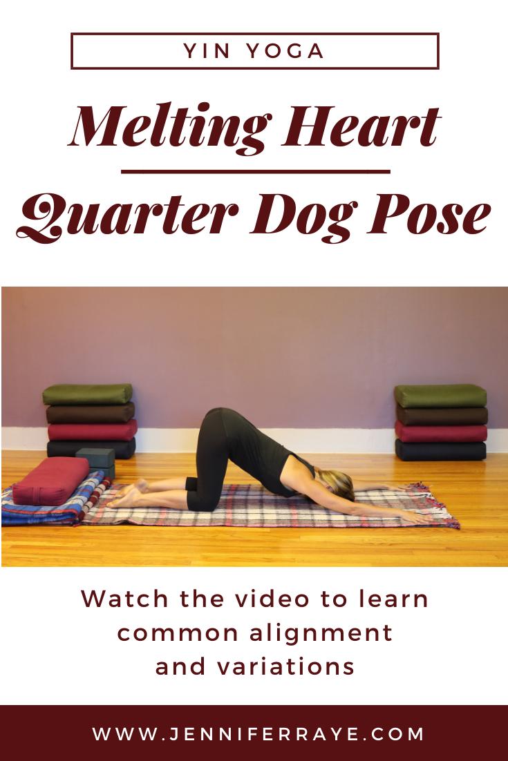 Yoga Pose Quarter Dog