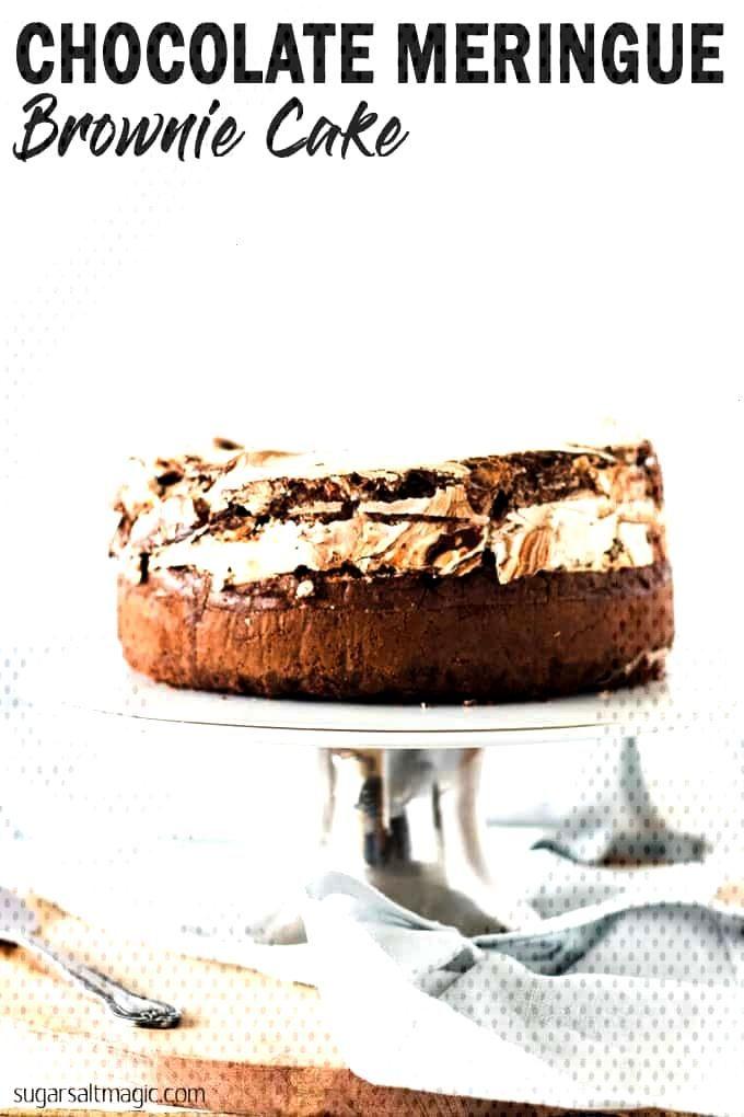 Chocolate Meringue Brownie Cake is no ordinary chocolate cake. Using my easy meringue recipe, in th