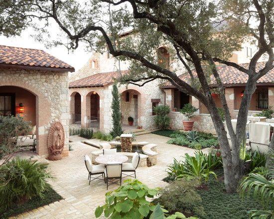 Mediterranean landscape design pictures remodel decor for Mediterranean courtyard designs