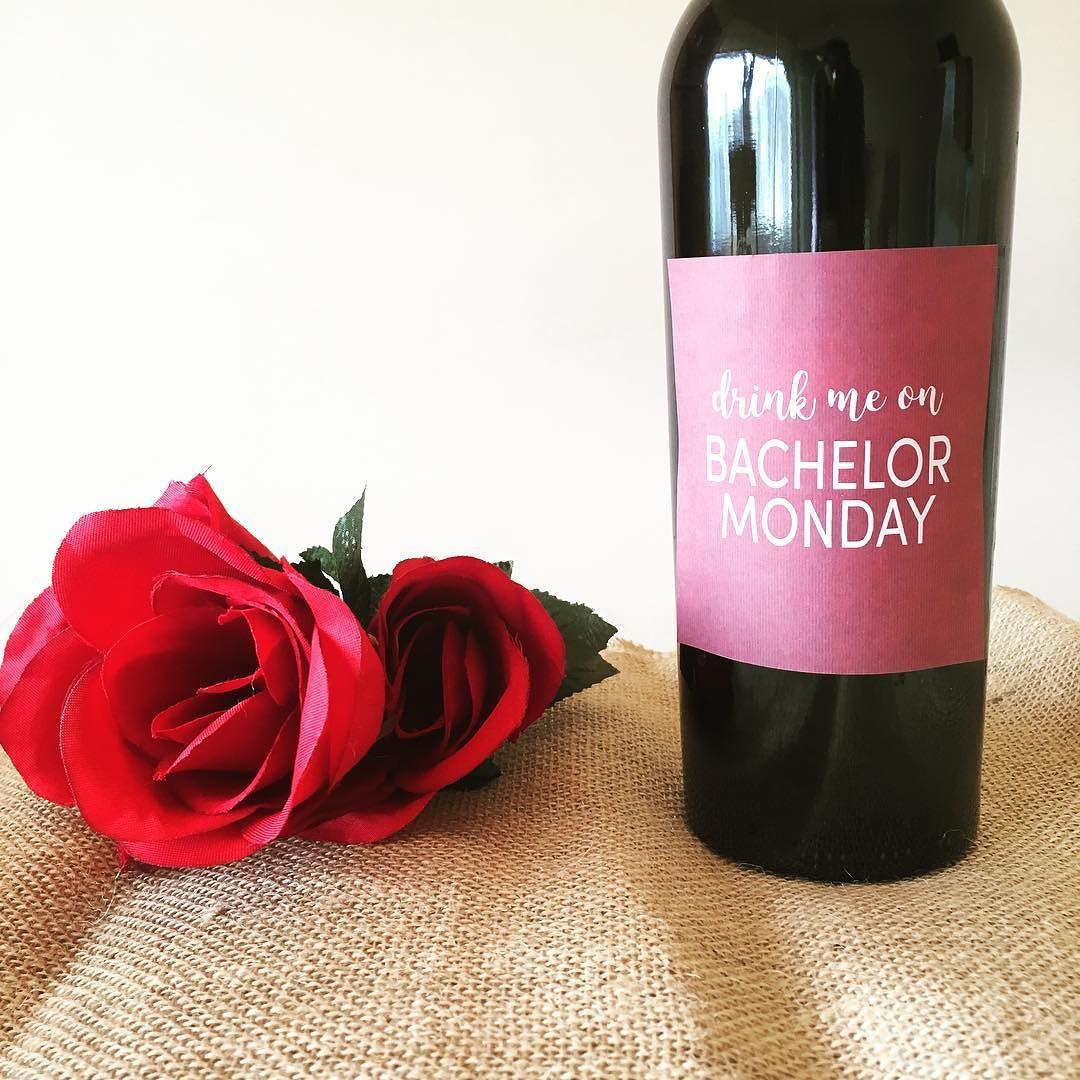Im Designing Bachelor Themed Printable Wine Labels That You Can Print For Your Bachelor Monday Watch Parties Thou Wine Label Printable Watch Party Wine Bottle