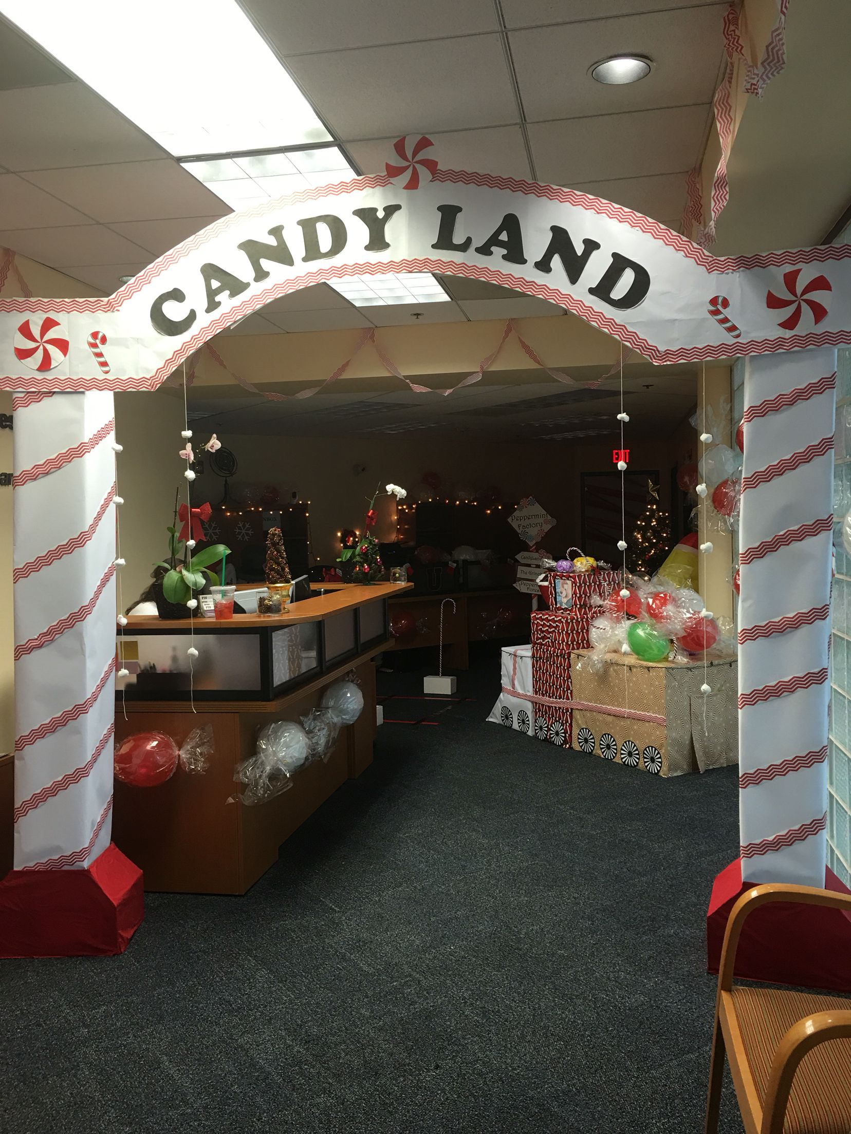 Candy Cane Office Decoration Office Christmas Decorations Christmas Decorations Fun Christmas Crafts