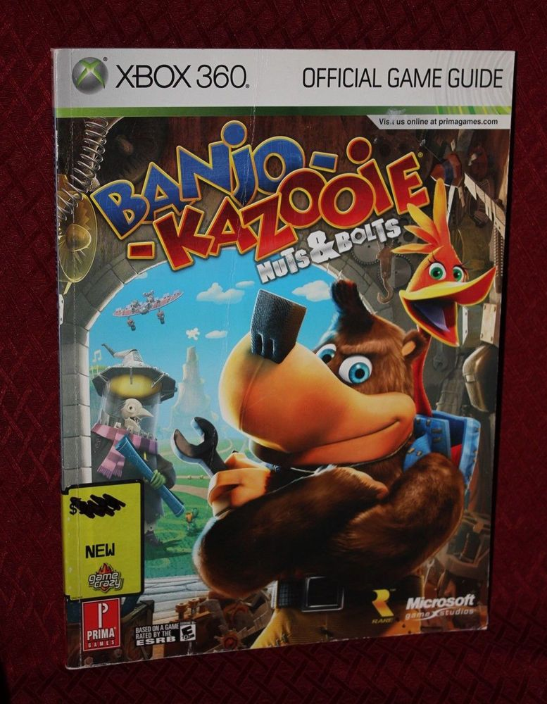 Banjo Kazooie Nuts & Bolts Prima Strategy Guide Hint Book