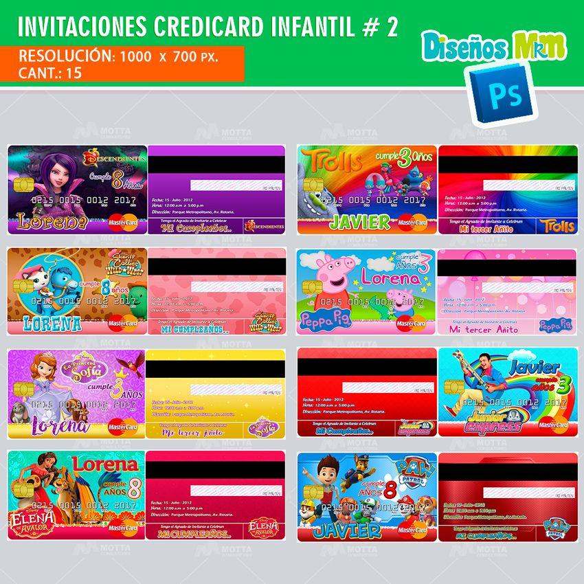 Plantillas Psd Tarjetas Invitacion Credicard Tarjetas De