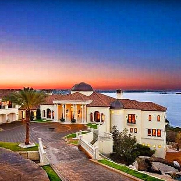 Italian Villa Dripping With Over The Top Luxury Including An Indoor Basketball Court Massage Room And Waterfalls Mansions Home Building Design Architecture