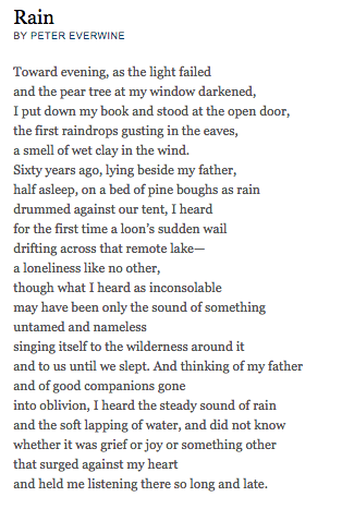Rain By Peter Everwine Poems Soul Poetry Poetry Foundation