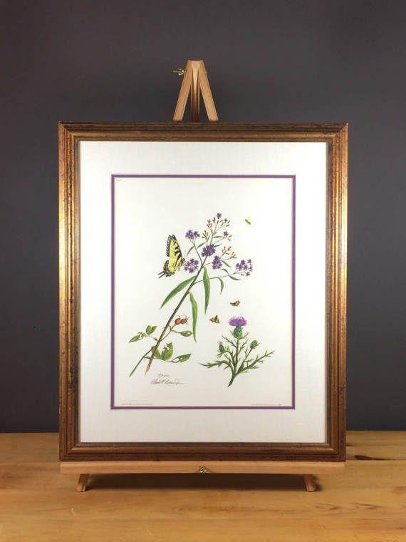 Vintage Framed Botanical Print / Chuck Crume Botanical Print Plate 1 ...