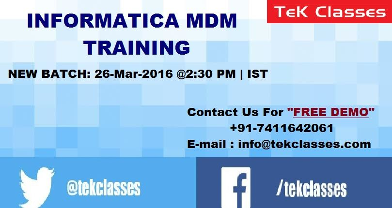 New Batch Starting For Informatica Mdm Training Hurry Up Enroll Now Get Upto 20 Off On Fee Visit Below Link For More Details Train Info Technology